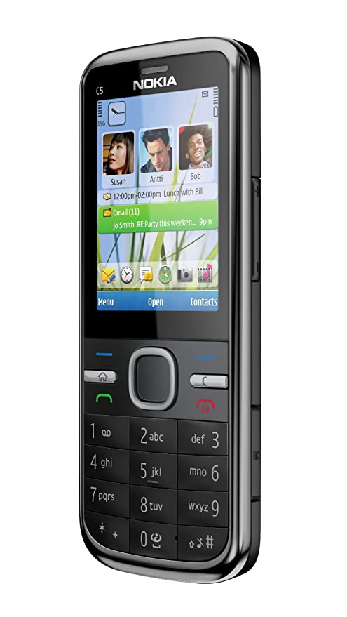 Nokia C5-00 5MP Sim Free Mobile Phone - Black: Amazon co uk