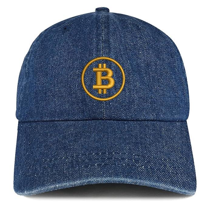 4ee2badf41d97 Trendy Apparel Shop Bitcoin Embroidered 100% Cotton Denim Cap Dad Hat -  Dark Blue