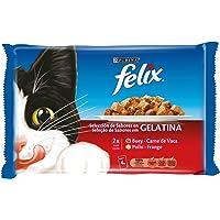 Purina Felix Gelatina comida para gatos con surtido de carnes 10 x [4 x 100
