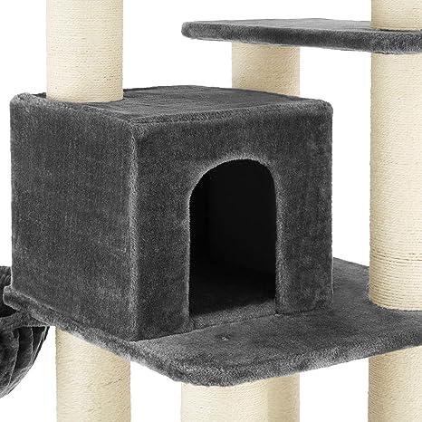TecTake 800740 Rascador para Gatos, Árbol Rascador, Columnas de ...