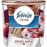 Febreze Geruchsbeseitigende Duftkerze Apfel und Zimt 100 g, 4er Pack (4 x 1 Stück)