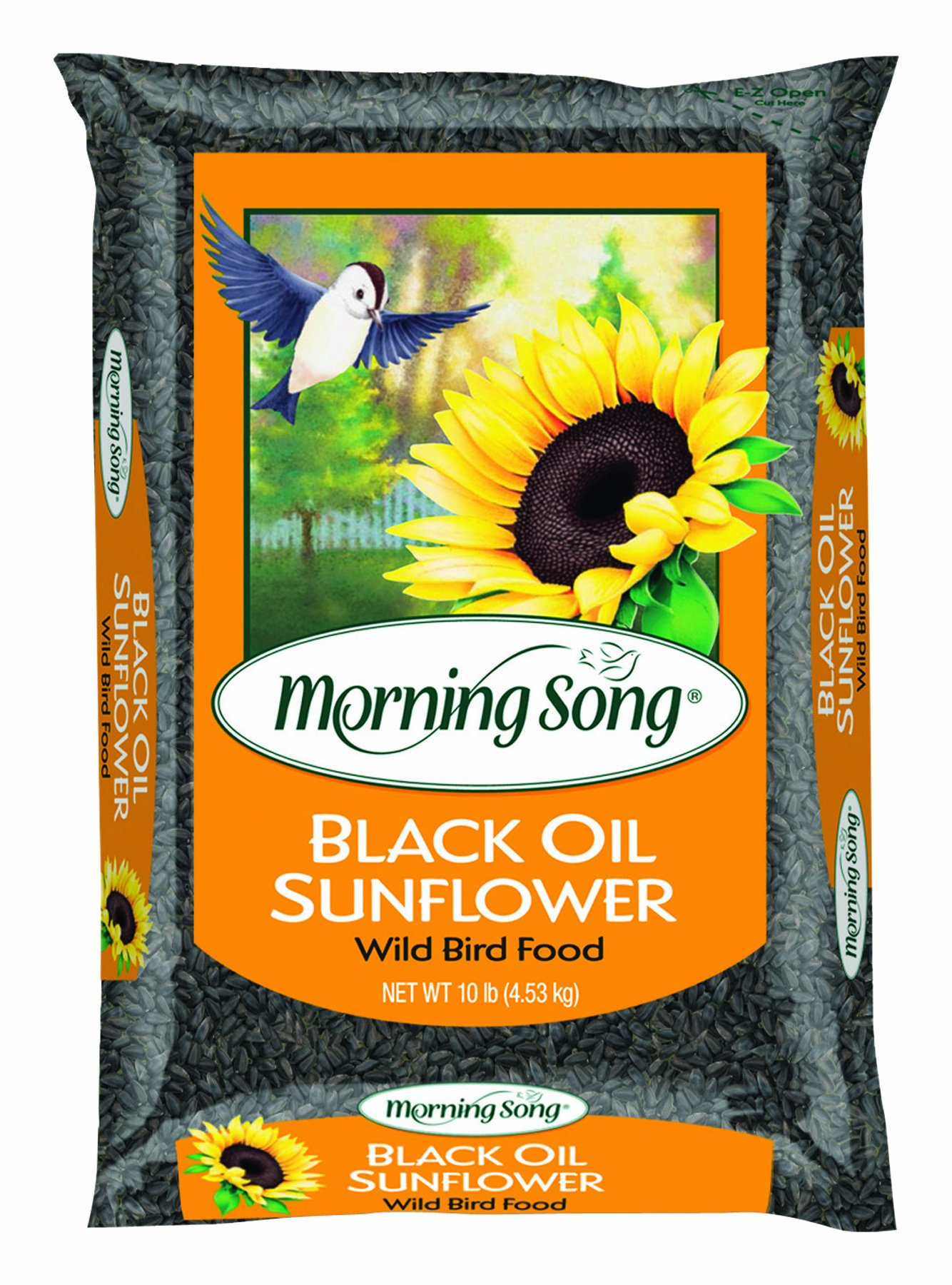 Morning Song 11996 Black Oil Sunflower Wild Bird Food, 10-Pound by Morning Song