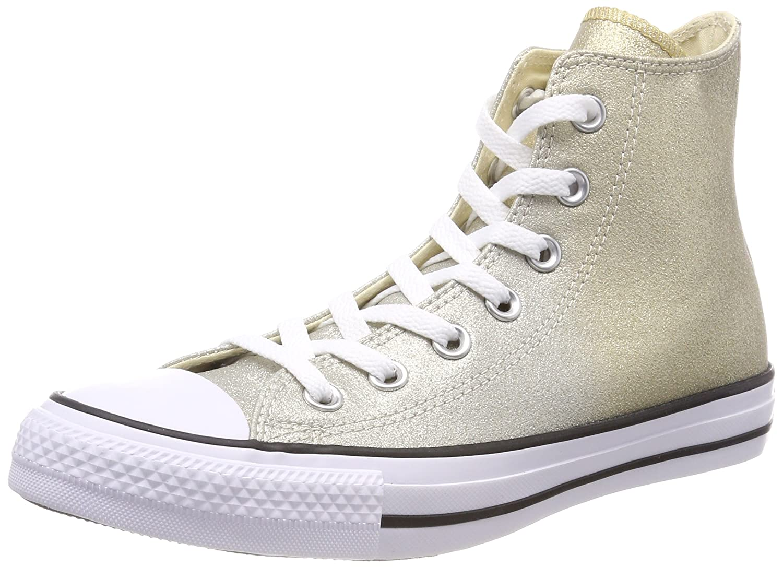 Converse Unisex-Erwachsene CTAS Hi Fitnessschuhe  42 EU|Gold (Light Gold/Aged Gold/White 710)