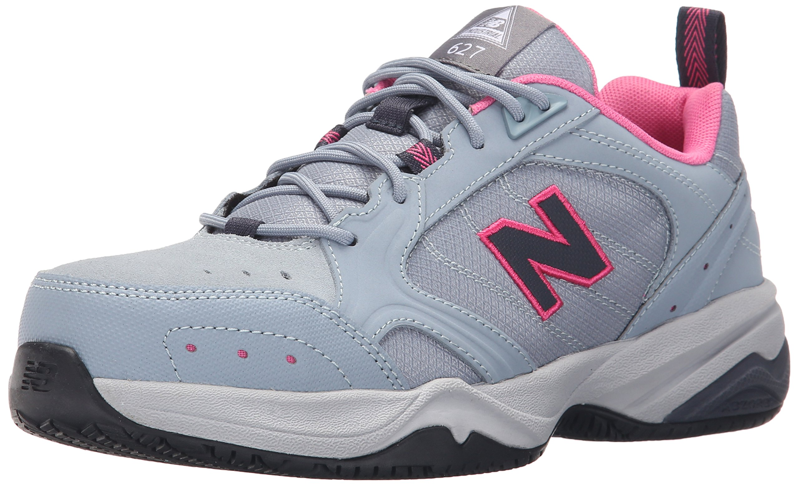New Balance Women's WID627V1 Steel Toe Training Work Shoe,Light Grey/Pink,8 B US by New Balance (Image #1)