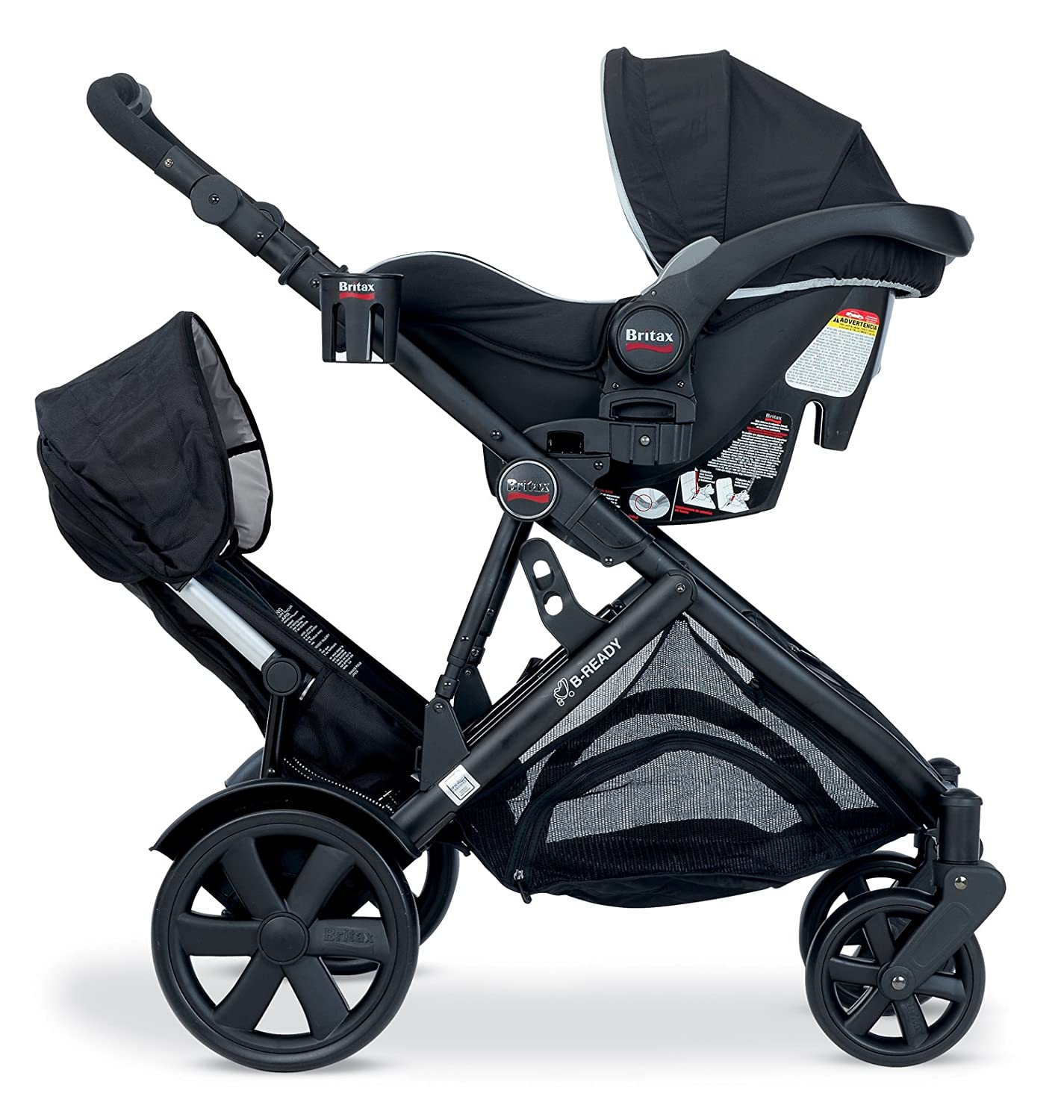 Amazon Britax Second Seat for B Ready Stroller Black Baby Stroller Accessories Baby