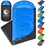 Backpacking Sleeping Bag – Lightweight Warm & Cold Weather Sleeping Bags for Adults, Kids & Couples – Ideal for Hiking, Camping & Outdoor Adventures – Single, XXL and Double