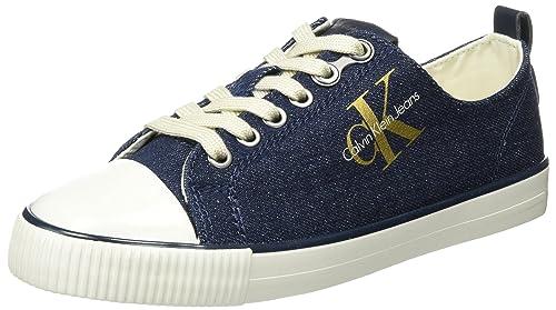 Calvin Klein Donata Metal Denim, Zapatillas para Mujer: Amazon.es: Zapatos y complementos