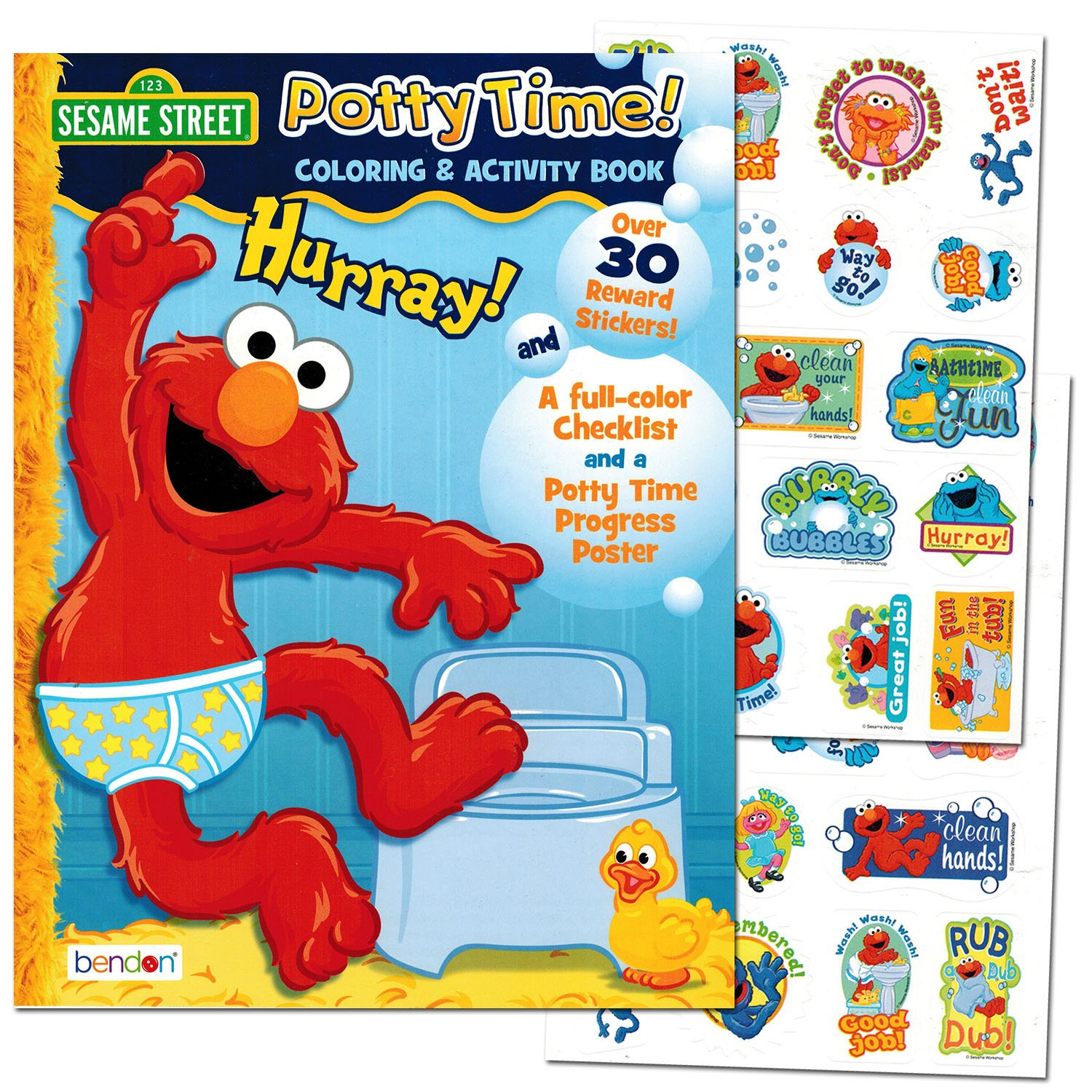 sesame street potty time potty training coloring and activity set with progress chart