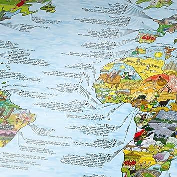 Fussball Weltkarte von Awesome Maps / Ausführung: Englisch: Amazon on