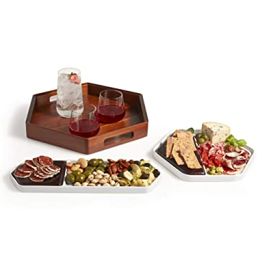 Libbey Urban Story 3-Piece Serving Tray Starter Set, 10-inch, 14-inch, 15-inch