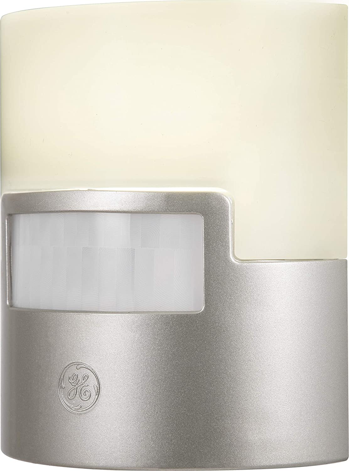 GE Ultra Brite Motion-Activated LED, 40 Lumens, Soft White, Night Light, Energy Efficient, Ideal for Hallway, Stairs, Kitchen, Garage, Utility, Laundry Room, Silver, 29844, 1 Pack,