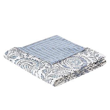 Amazoncom Echo Design Kamala Duvet Cover King Size Blue White