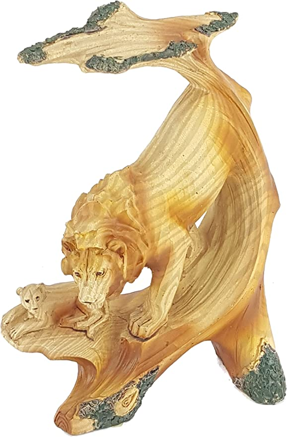 Everspring Carved Wood Look TIGER BUST Resin Sculpture//Statue