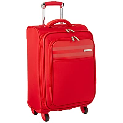 hot sale 2017 Calvin Klein Greenwich 2.0 21 Inch Upright Carry-On Suitcase, Red, One Size