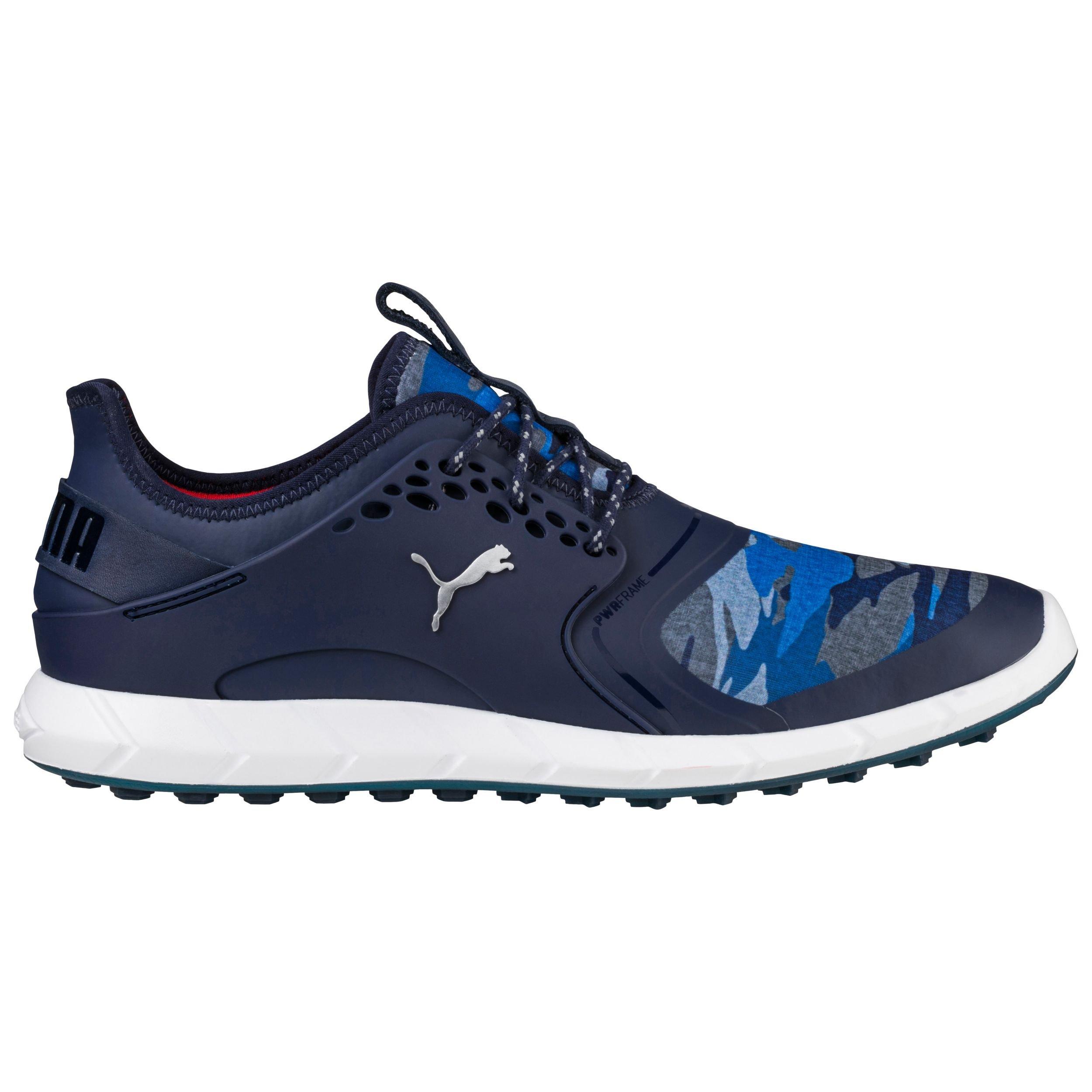 PUMA Golf Men's Ignite Pwrsport Camo Golf Shoe, Peacoat/Camo, 10.5 Medium US