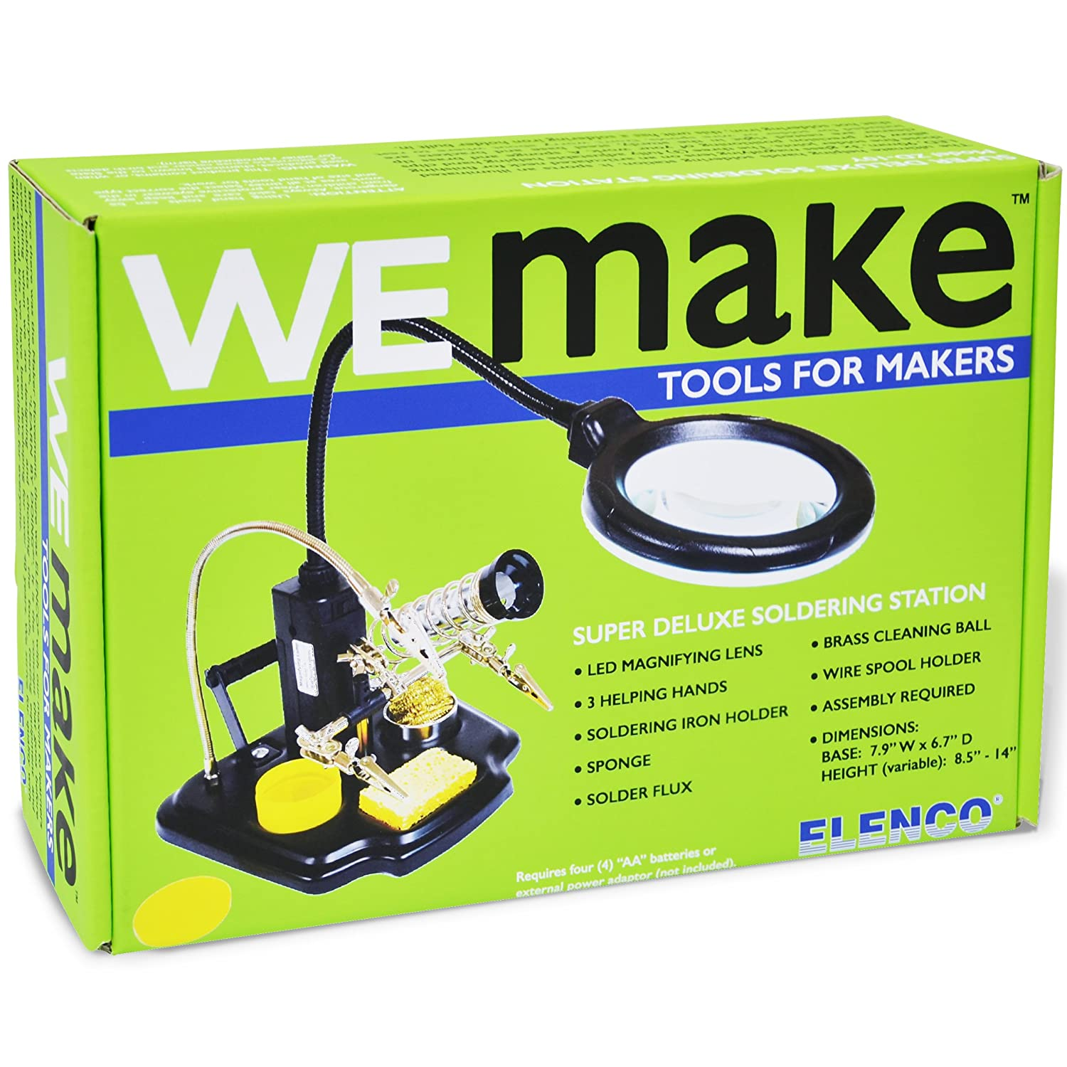 Elenco Wemake Soldering Station With Led Illuminated And Holders This Helps Me To Hold The Circuit Board While Magnifying Lens 3rd Helping Hand Toys Games
