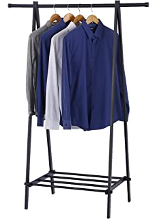 finnhomy black metal coat rack one layer clothes drying rack entryway organize