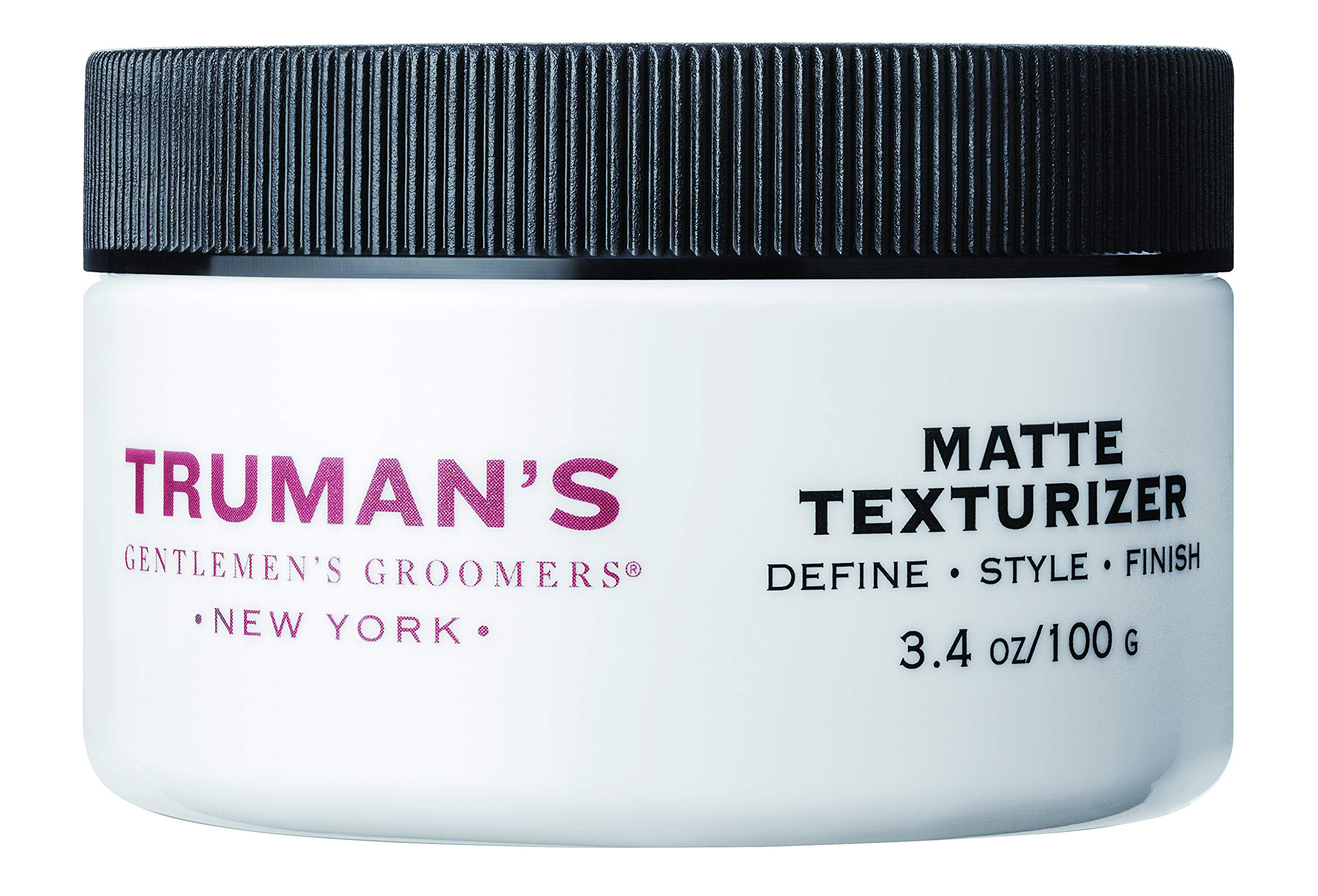Truman's Gentlemen's Groomers Men's Matte Texturizer, Hair Styling Pomade for Medium Hold with Natural Finish Look, 3.4 oz