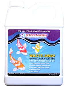 DrTim's Aquatics Koi Pond and Water Garden Products, 100% Natural Eco-Friendly Fish Tank Cleaner, Clarifies Water, Removes Toxin, Waste, Blocks Bacteria, Organics and Optimizes Water Quality