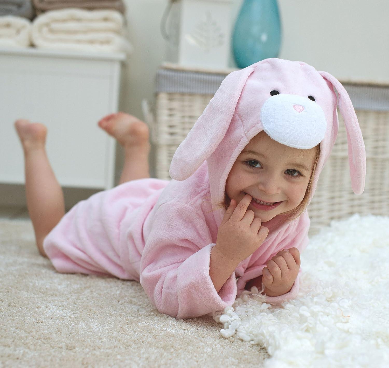 Accappatoio in cotone a coniglietto, per bambini da 1 a 3anni Surrey AT Company Ltd 760408ETR