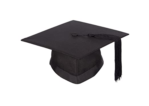 5578e0ee3 University academic mortarboard (Bachelor) - Graduation cap (Small -  Circumference 50cm - 54cm