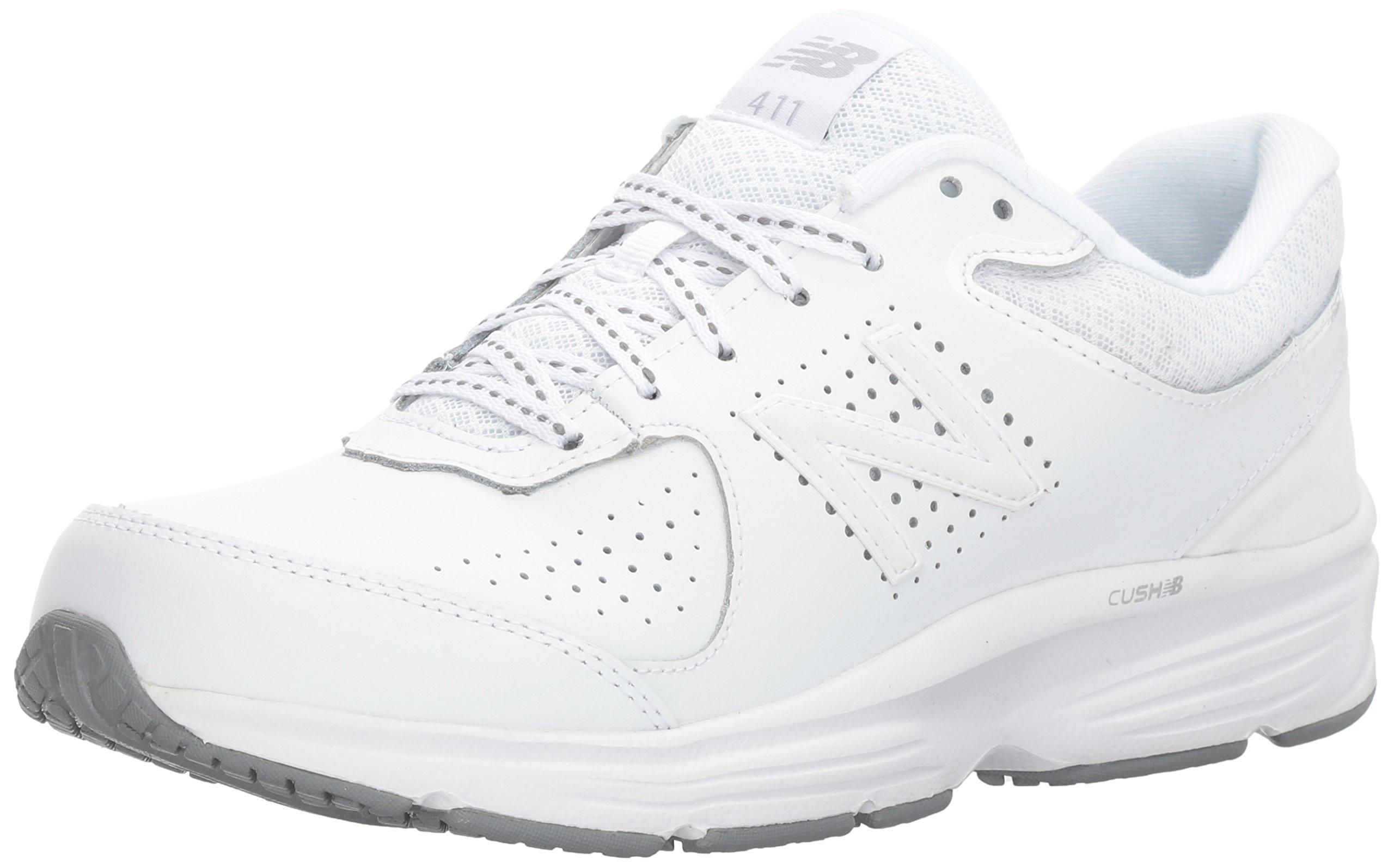New Balance Women's WW411v2 Walking Shoe, White, 7.5 D US by New Balance
