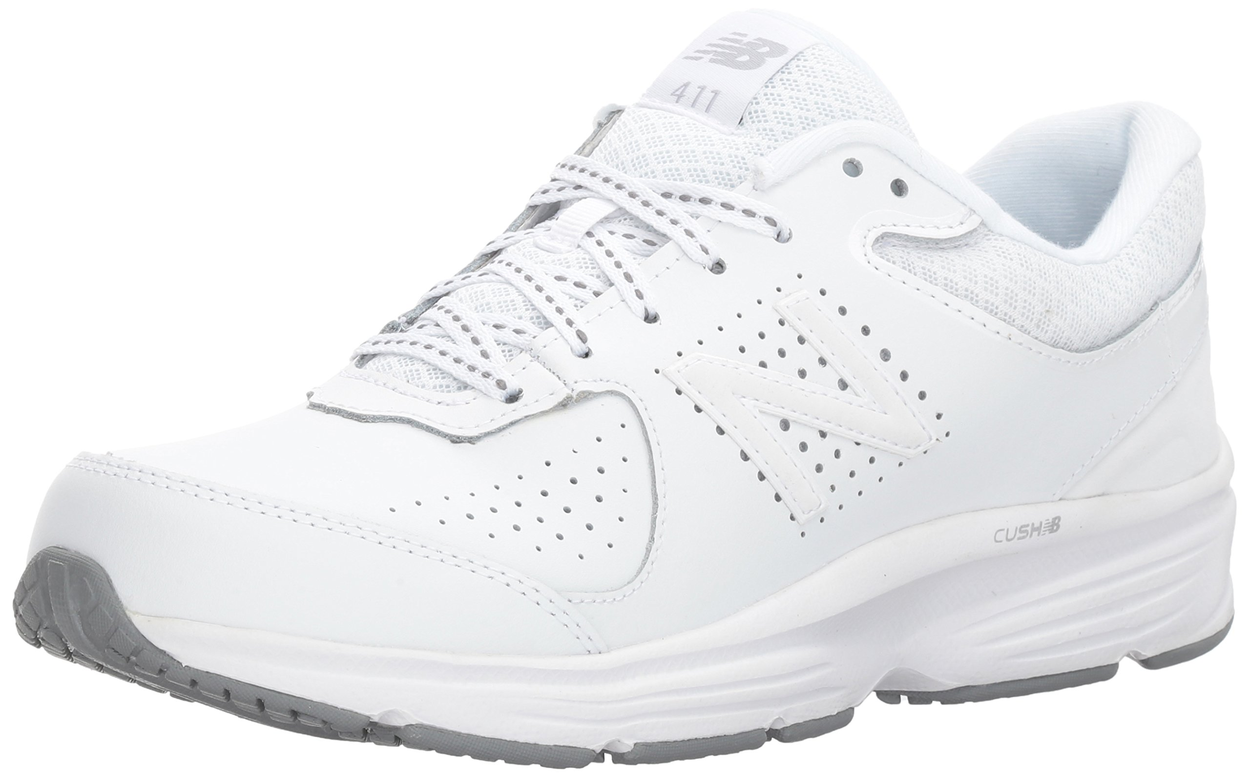 New Balance Women's WW411v2 Walking Shoe, White, 7.5 D US