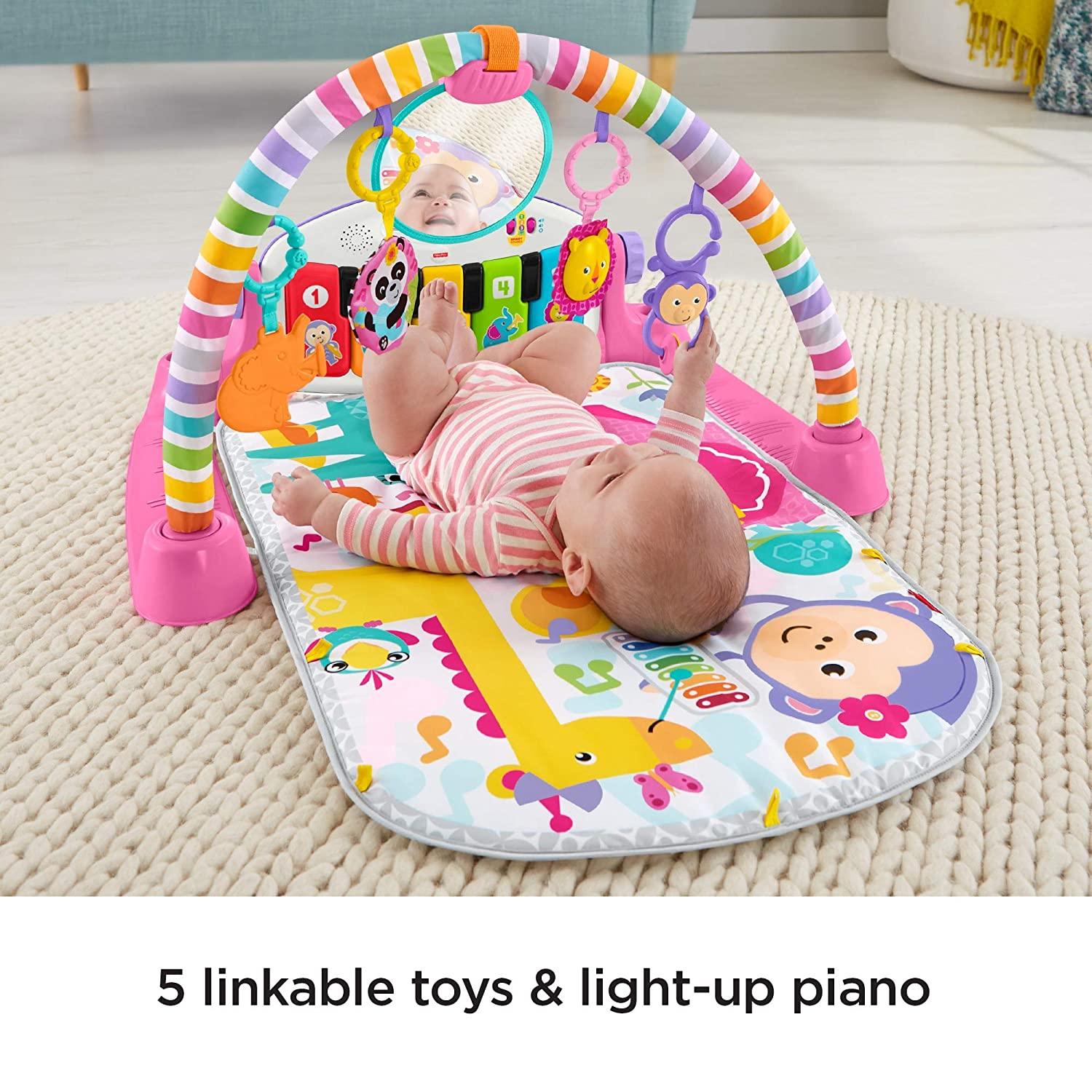 Multi-Colour Fisher-Price FWT25 Deluxe Kick and Play Piano Gym