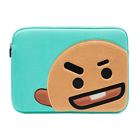 sale retailer f1c95 9cf39 BT21 Official Merchandise by Line Friends - SHOOKY 13 Inch Laptop Sleeve  Case Compatible with MacBook, iPad Pro, and 13