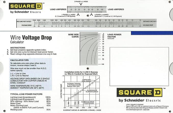 Wire Voltage Drop Slide Chart