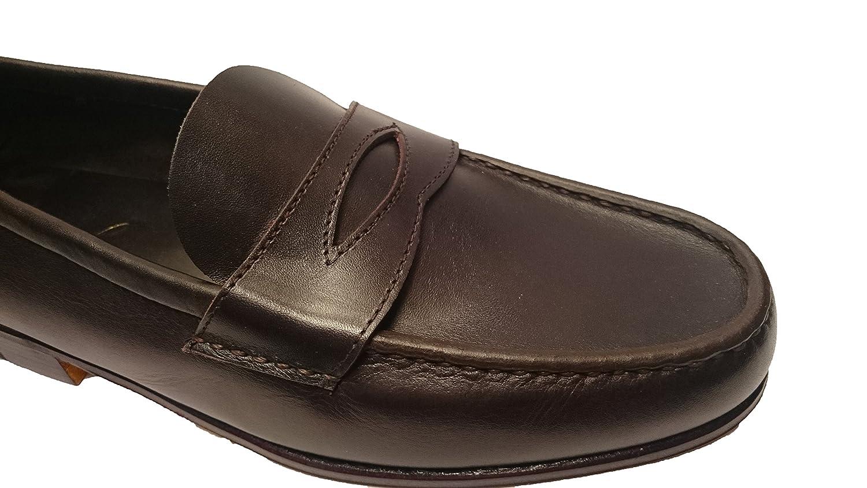 Guido - Mocasines de Piel para hombre marrón Marrón oscuro marrón Size: 43: Amazon.es: Zapatos y complementos