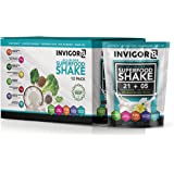 INVIGOR8 Superfood Shake Gluten-Free and Non GMO Meal Replacement Grass-Fed Whey Protein Shake with Probiotics and Omega 3 (645g) … (Pouches (12-pk) French Vanilla)