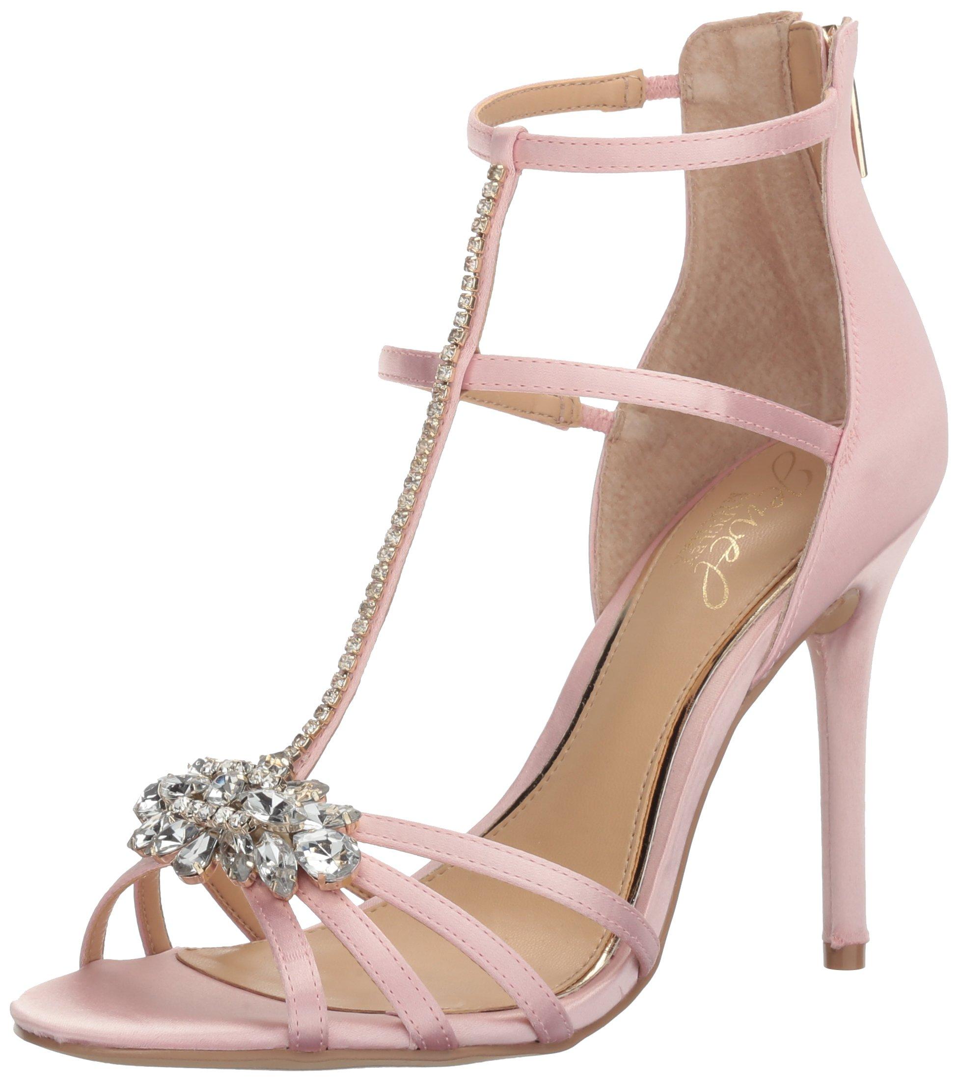 Jewel Badgley Mischka Women's Hazel Dress Sandal, Pale Pink, 6 M US