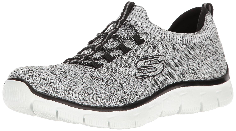 12418, Damen Sneakers, Weiß - Weiß/Schwarz - Größe: 41 EU Skechers