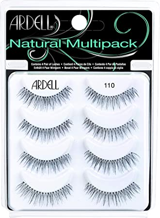 60beca8c54e Amazon.com : Ardell 110 fake Eyelashes, pack of 4 ( pairs ) : Fake Eyelashes  And Adhesives : Beauty