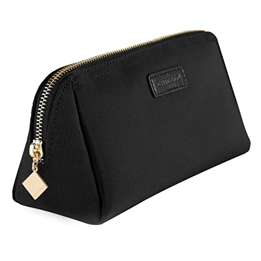 feb0a212f2 Amazon.com  CHICECO Handy Cosmetic Pouch Clutch Makeup Bag - Black 1260D   Clothing