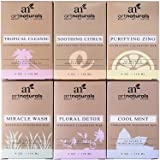 ArtNaturals 6 Piece Soap Bar Set, 100% Natural and Infused with Jojoba Oil, Best for All Skin Types, Body and Face, Men and Women, Tea Tree/Lavender/Eucalyptus/Lemon/Grapefruit/Orange, 4 oz. Each