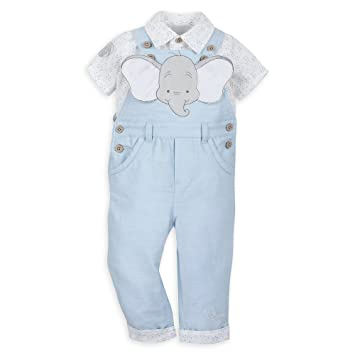 f60c7e3150ef7 Amazon.com: Disney Dumbo Dungaree Set for Baby Size 3-6 MO Multi: Baby
