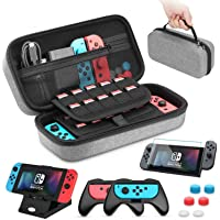 Case Compatible with Nintendo Switch Carry Case Pouch Switch Cover Case 6 Joycon Grips and PlayStand for Nintendo Switch…