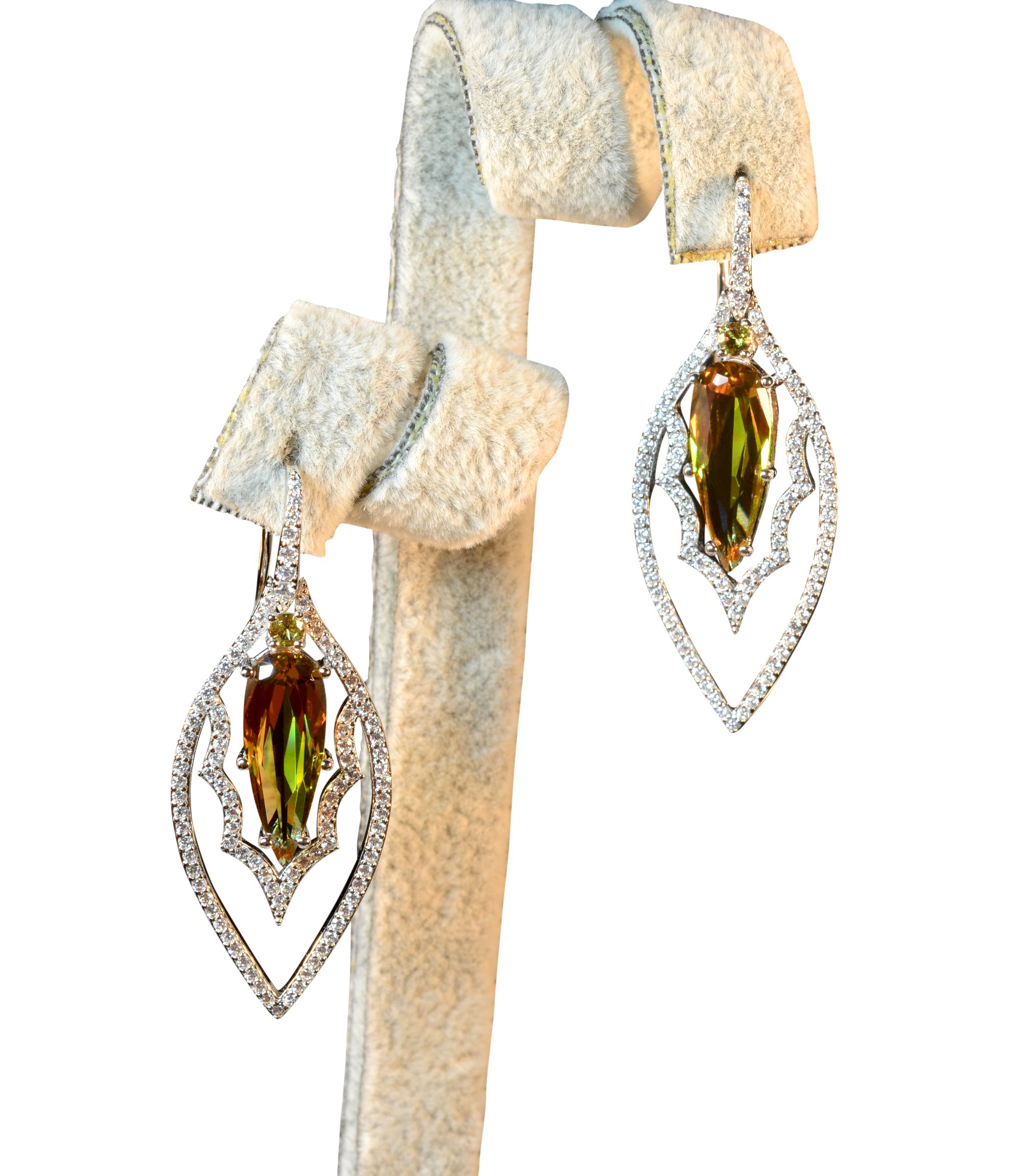 Tingle Alexandrite Earrings Sterling Silver Fine Jewelry Color Change Gemstone Teartrop Gothic Earrings Silver Earrings for Women (Rhodium Plated Earrings) by Tingle (Image #2)