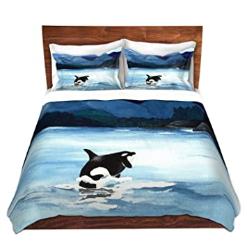 Delightful DiaNoche Designs Artist Brazen Design Studio Orca Beach Brushed Twill Home  Decor Bedding Cover,