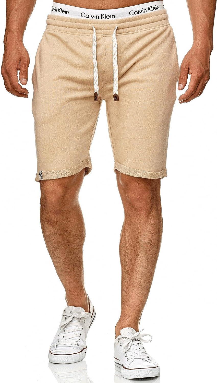 Court Pantalon Shorts De Sport Pantalon d/'/ét/é de Jogging Sweat Pants d/'entra/înement pour Homme Indicode Homme Aldrich Short en Molleton avec int/érieur Polaire /& Cordon