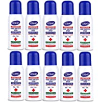 Cosmo Advanced Instant Hand Sanitizer Spray 100ML PACK OF 10, IPA 70%, Moisturizers, Vitamin E