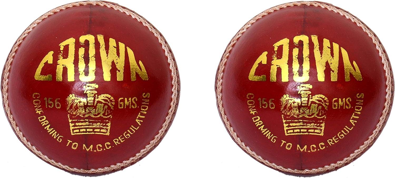 CW juego de 2 Corona Rojo Sports pelotas de Cricket, hecho de piel ...