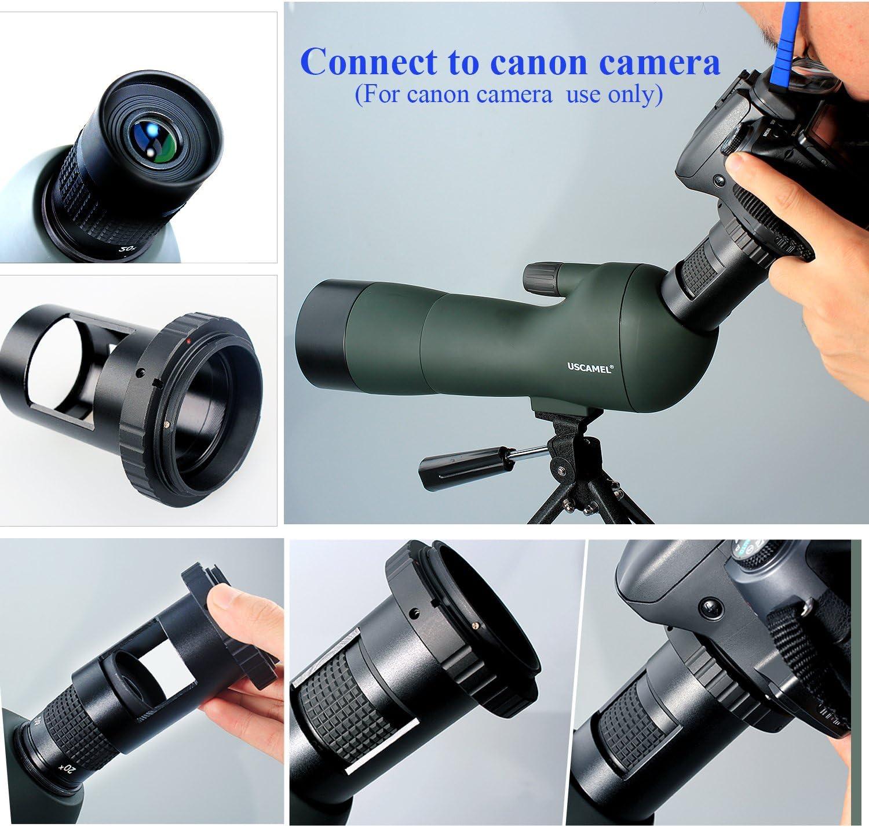 USCAMEL® Telescopio catalejo monocular con trípode, para observar ...