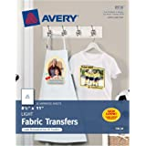 """Avery T-Shirt Transfers for Inkjet Printers, For Light Fabric, 8.5"""" x 11"""", 18 Transfers, (8938)"""