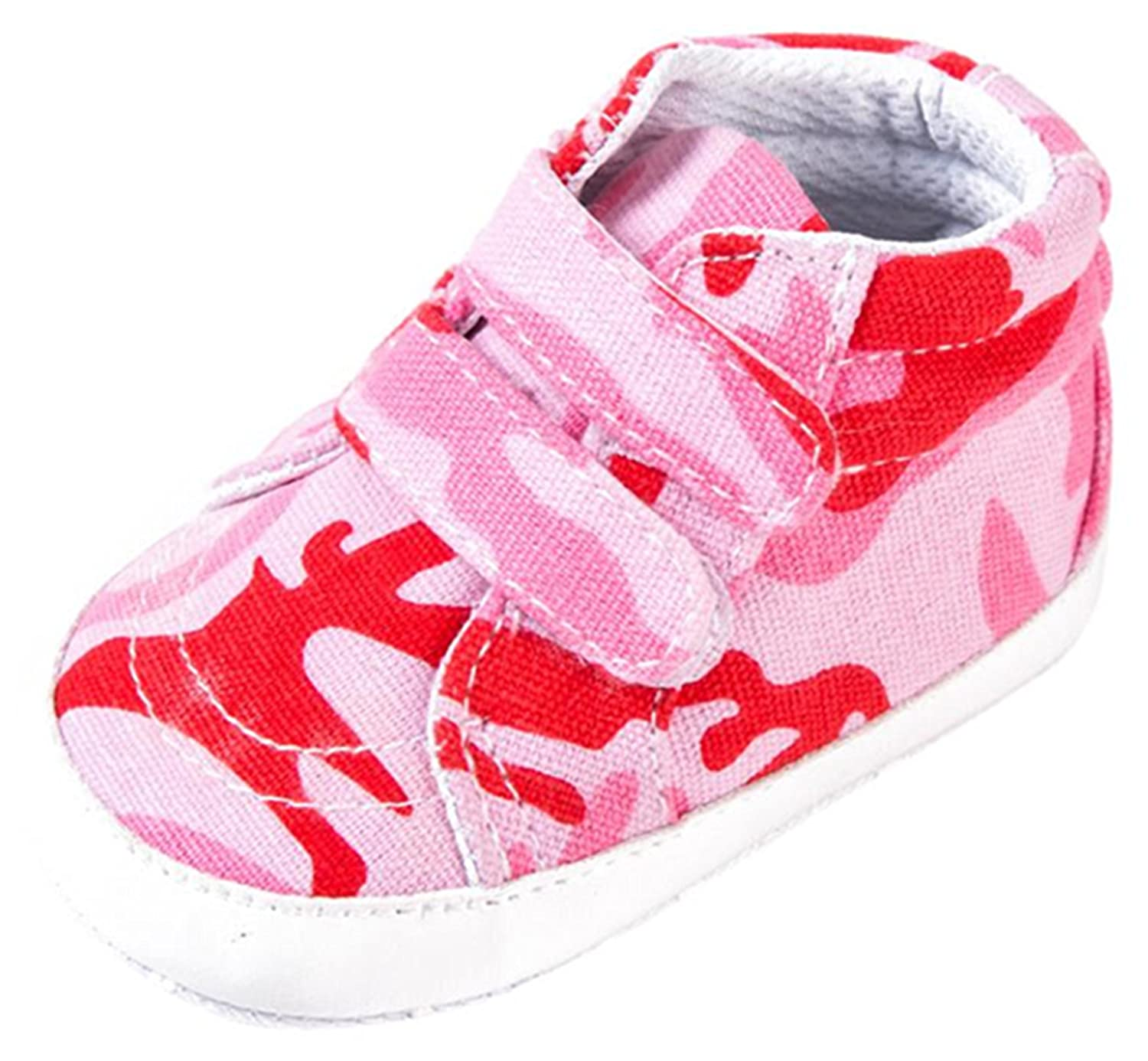 Iuhan Camouflage Newborn Sole Crib Soft Sneaker Baby Girl Boy Anti-slip Canvas Shoes