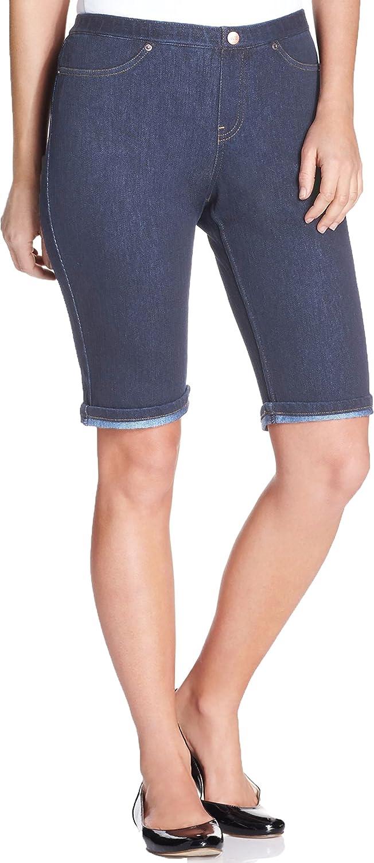 Hue Original Jeans Boyfriend Shorts Med Wash Size X-Small (0-2)