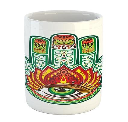 Amazon Ambesonne Hamsa Mug Middle Eastern Culture Hamsa Hand