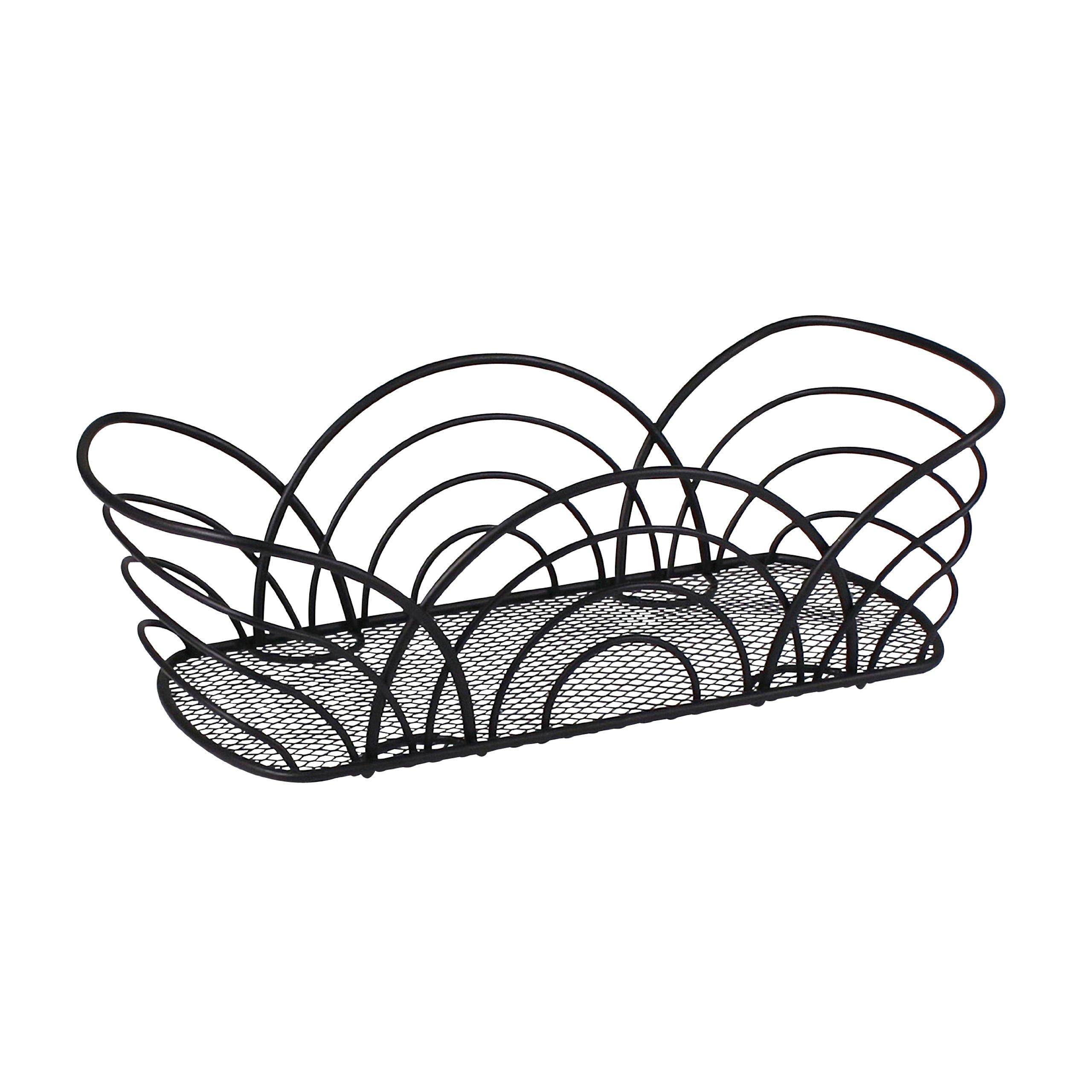Spectrum Diversified Twist Flower Bread Basket, Black